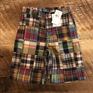 Boys Polo Plaid shorts